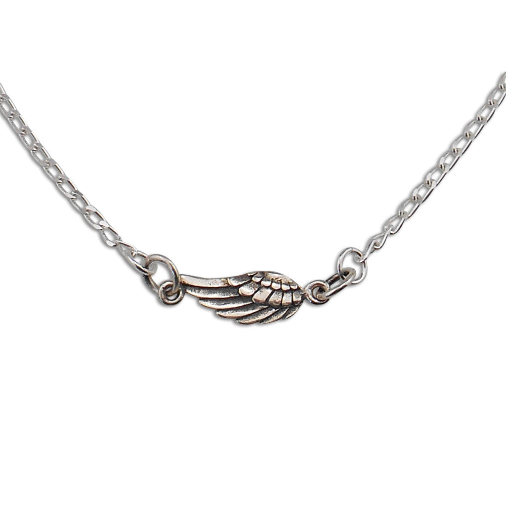 Sterling Silver Soar Wing Necklace - By E Artisan Jewelry
