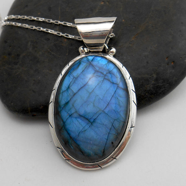 Mystical Labradorite Pendant Necklace #2