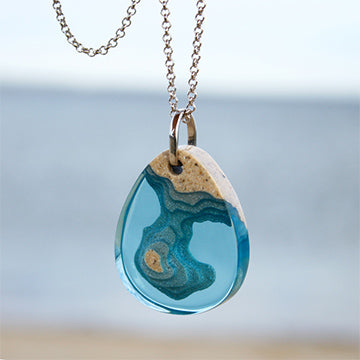 Beach Sand and Resin Jewelry - By E Artisan Jewelry