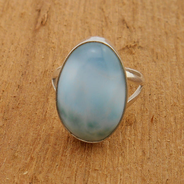 Larimar and Sterling Silver Ring #104