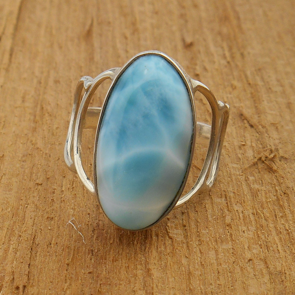 Larimar and Sterling Silver Ring #105