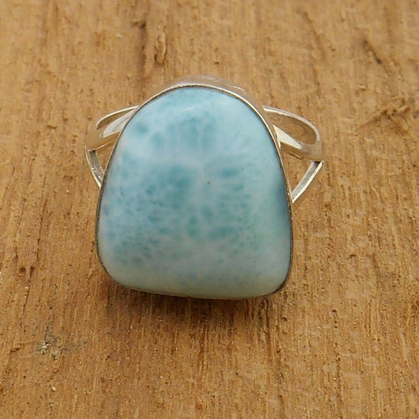 Beautiful Larimar Ring - By E Artisan Jewelry
