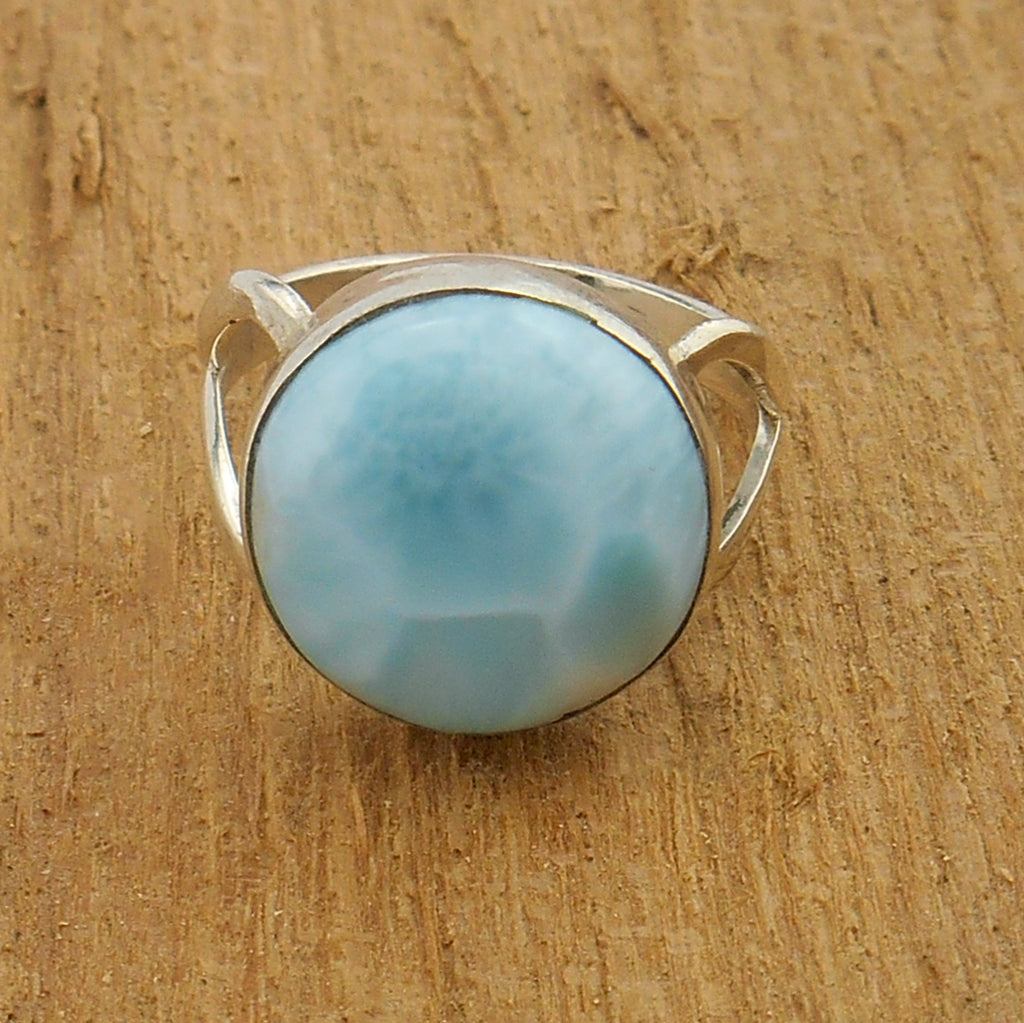 Larimar Ring - By E Artisan Jewelry