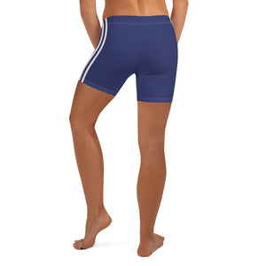 Women's EPIC Tech Shorts | Navy - Navy-White Stripes | Regular Waist | Sizes: XS - 3XL