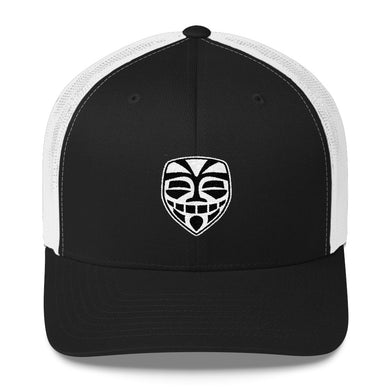 EPIC Retro Mesh Cap | Black-White | Adjustable | Black-White Epic Tiki | One Size Fits Most