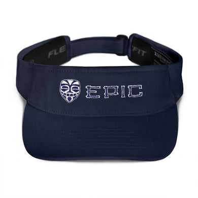 EPIC Tech Visor | Navy | Adjustable | White-Navy Tiki Epic-Epic Tiki | One Size Fits Most