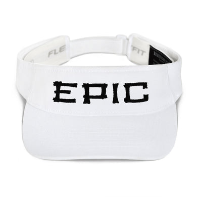 EPIC Tech Visor | White | Adjustable | Black-White Tiki Epic | One Size Fits Most