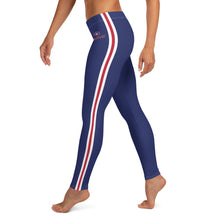 Load image into Gallery viewer, Women's EPIC Tech Leggings | Navy - Red-White Stripes | Regular Waist | Sizes: XS - XL
