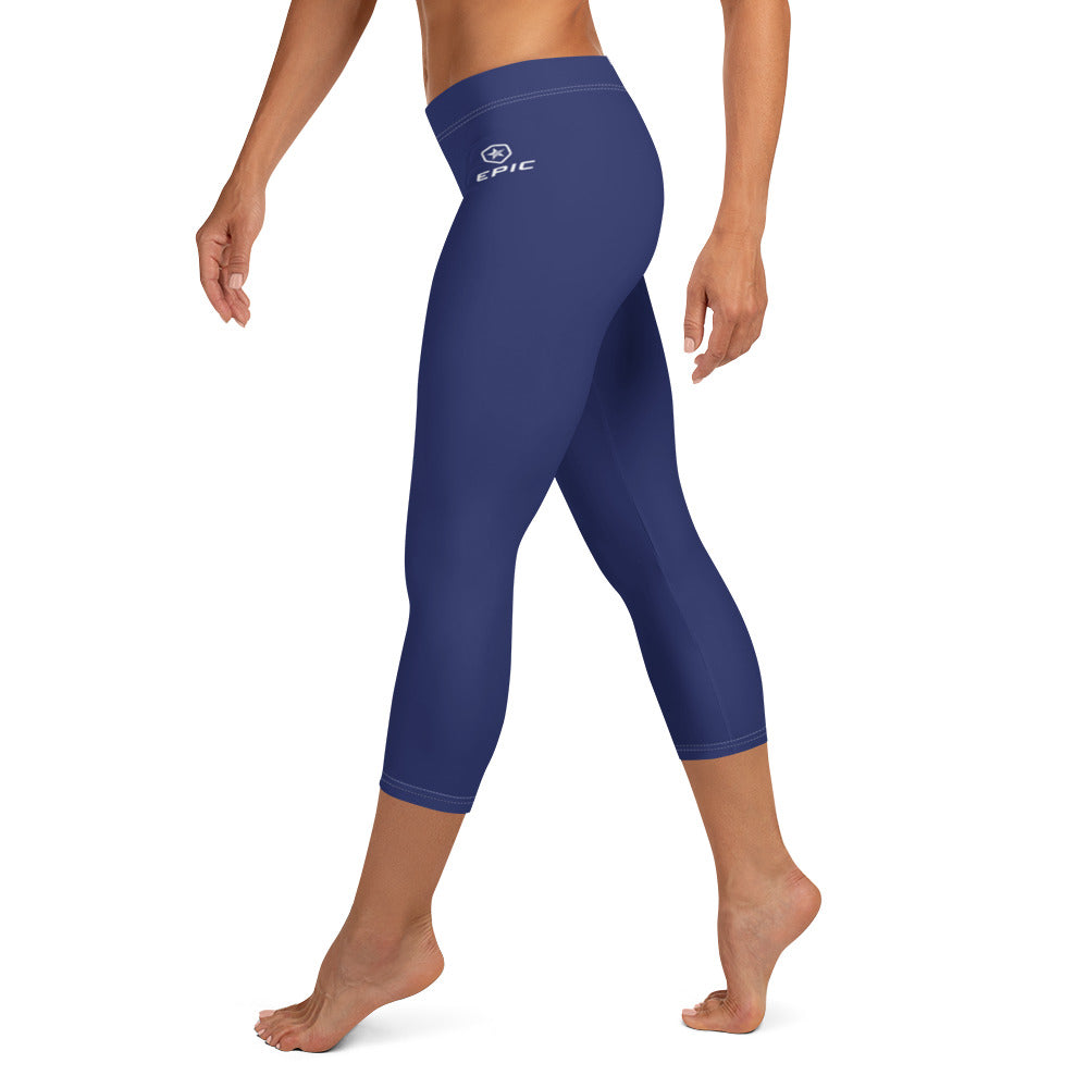 Women's EPIC Tech Capri Leggings | Navy | Regular Waist | Sizes: XS - XL