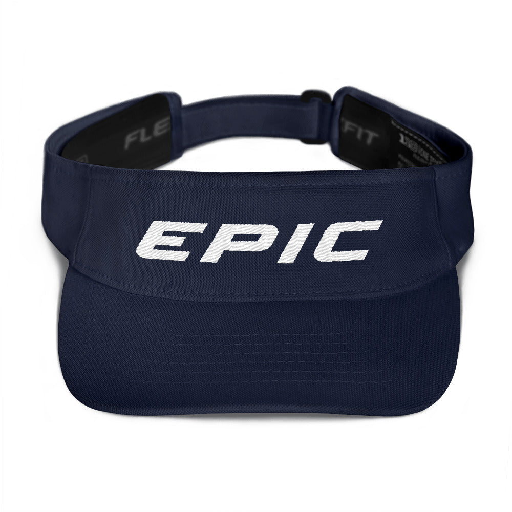 EPIC Tech Visor | Navy | Adjustable | White Epic | One Size Fits Most
