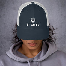 Load image into Gallery viewer, EPIC Retro Mesh Cap | Navy-White | Adjustable | White Tiki Epic-Epic Tiki | One Size Fits Most