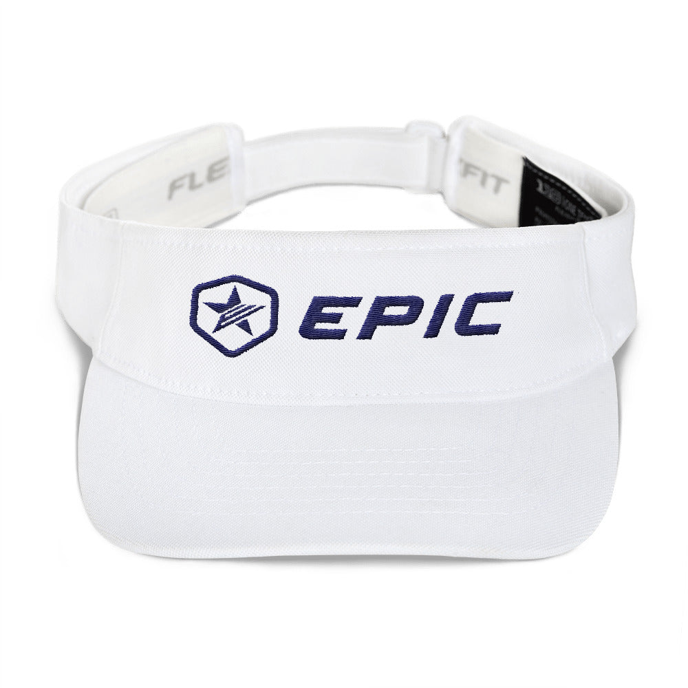 EPIC Tech Visor | White | Adjustable | Navy Epic-Epic Hex Star | One Size Fits Most