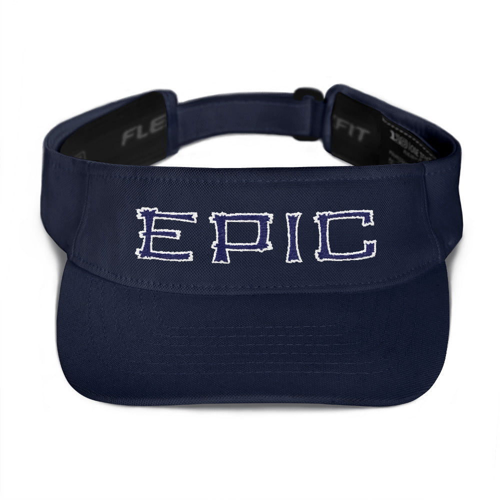 EPIC Tech Visor | Navy | Adjustable | White-Navy Tiki Epic | One Size Fits Most
