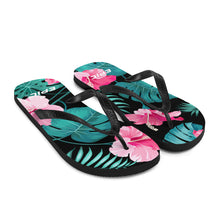 Load image into Gallery viewer, Unisex EPIC Flip-Flops | Pink Hibiscus | Sizes: Men's 6-11 and Women's 7-12