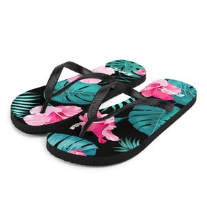 Unisex EPIC Flip-Flops | Pink Hibiscus | Sizes: Men's 6-11 and Women's 7-12