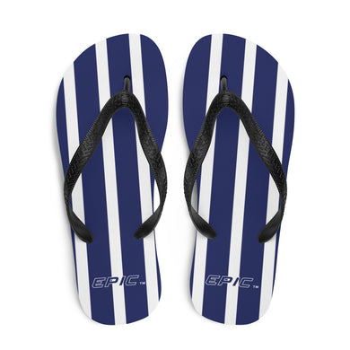 Unisex EPIC Flip-Flops | Navy-White Stripes | Sizes: Men's 6-11 and Women's 7-12