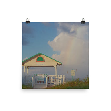 Fine Art Poster | EPIC Coquina Key Walkover Rainbow | Museum-Quality Matte Paper | Various Sizes