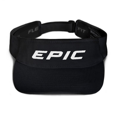EPIC Tech Visor | Black | Adjustable | White Epic | One Size Fits Most