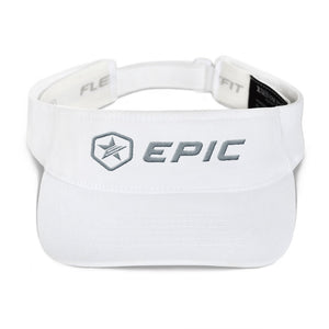 EPIC Tech Visor | White | Adjustable | Grey Epic-Epic Hex Star | One Size Fits Most