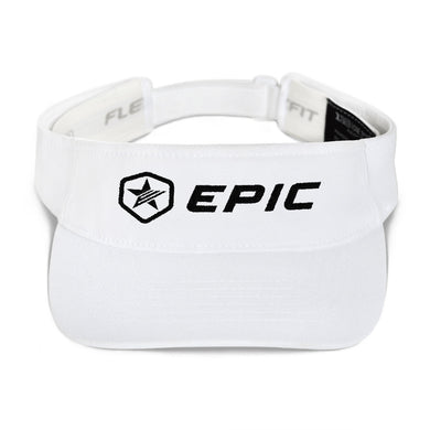 EPIC Tech Visor | White | Adjustable | Black Epic-Epic Hex Star | One Size Fits Most