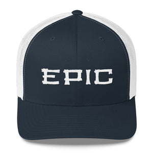 EPIC Retro Mesh Cap | Navy-White | Adjustable | White Tiki Epic | One Size Fits Most