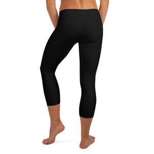 Women's EPIC Tech Capri Leggings | Black | Regular Waist | Sizes: XS - XL