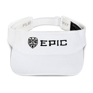 EPIC Tech Visor | White | Adjustable | Black-White Tiki Epic-Epic Tiki | One Size Fits Most