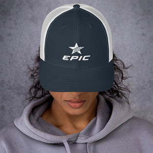 EPIC Retro Mesh Cap | Navy-White | Adjustable | White Epic-Epic Star | One Size Fits Most