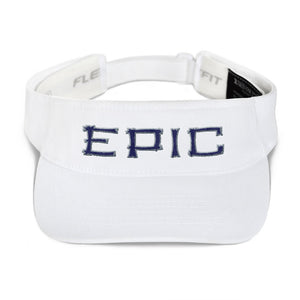EPIC Tech Visor | White | Adjustable | Navy-Grey Tiki Epic | One Size Fits Most