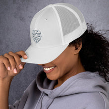 Load image into Gallery viewer, EPIC Retro Mesh Cap | White-White | Adjustable | Grey Epic Tiki | One Size Fits Most