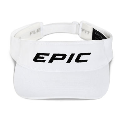 EPIC Tech Visor | White | Adjustable | Black Epic | One Size Fits Most