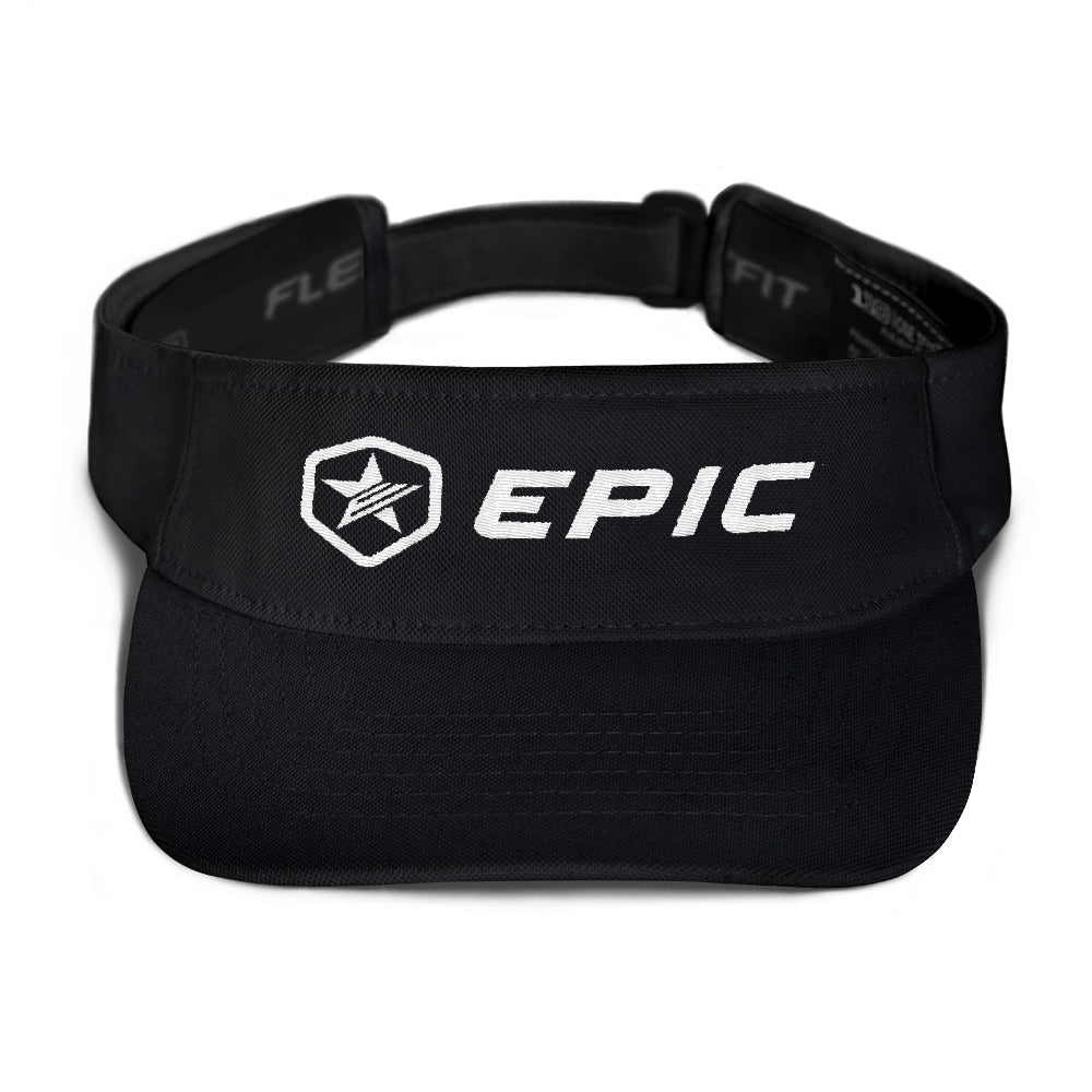 EPIC Tech Visor | Black | Adjustable | White Epic-Epic Hex Star | One Size Fits Most