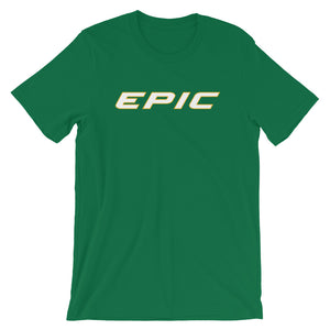 Unisex EPIC Short Sleeve Crew Neck T-Shirt | Kelly Green | Contemporary Fit | White-Gold Epic | Sizes: S - 4XL