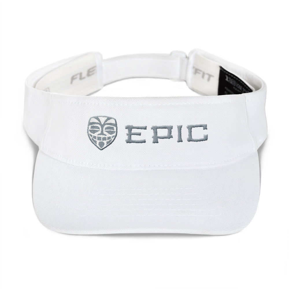 EPIC Tech Visor | White | Adjustable | Grey-White Tiki Epic-Epic Tiki | One Size Fits Most