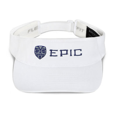 EPIC Tech Visor | White | Adjustable | Navy-Grey Tiki Epic-Epic Tiki | One Size Fits Most