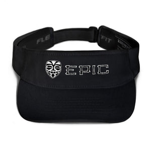 EPIC Tech Visor | Black | Adjustable | White-Black Tiki Epic-Epic Tiki | One Size Fits Most