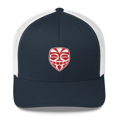 EPIC Retro Mesh Cap | Navy-White | Adjustable | Red-White Epic Tiki | One Size Fits Most