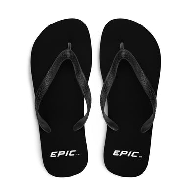 Unisex EPIC Flip-Flops | Black | Sizes: Men's 6-11 and Women's 7-12