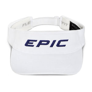 EPIC Tech Visor | White | Adjustable | Navy Epic | One Size Fits Most