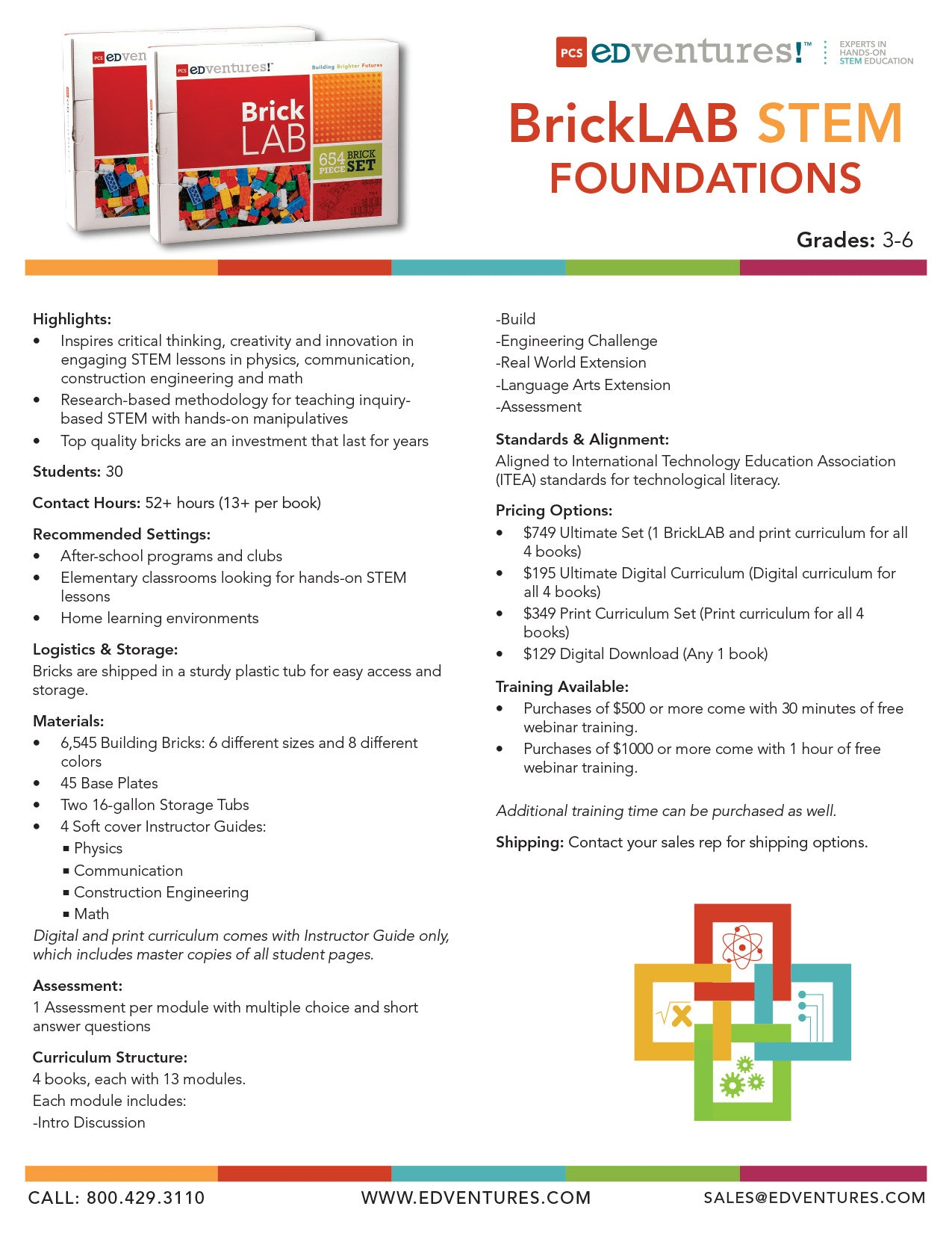 BrickLAB STEM Foundations Spec Sheet