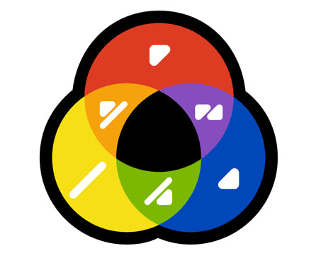 ColorADD symbols on the color wheel