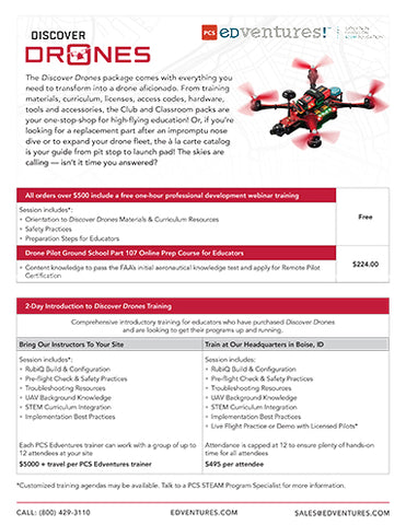 Discover Drones Base Packages - Super-Charged STEM | PCS