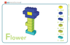BrickLAB Flower Power + History Activity Card Set-PCS edventures.com