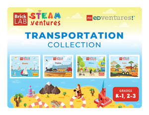 BrickLAB STEAMventures: Transportation Collection-PCS edventures.com