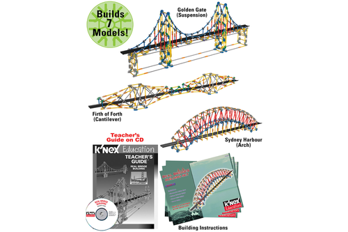 K'NEX Real Bridge Building Set-PCS edventures.com