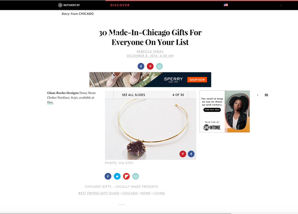 Refinery29 featuring Glamrocks Jewelry in gift guide