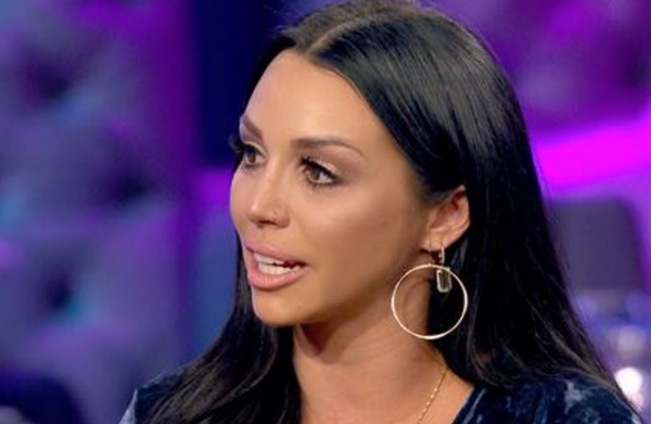 Scheana Shay wearing Glamrocks Rose Gold Hoops