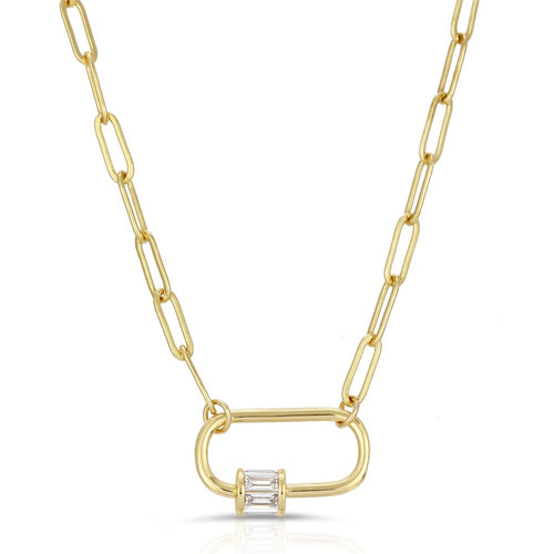 Locker Link Necklace- Clear