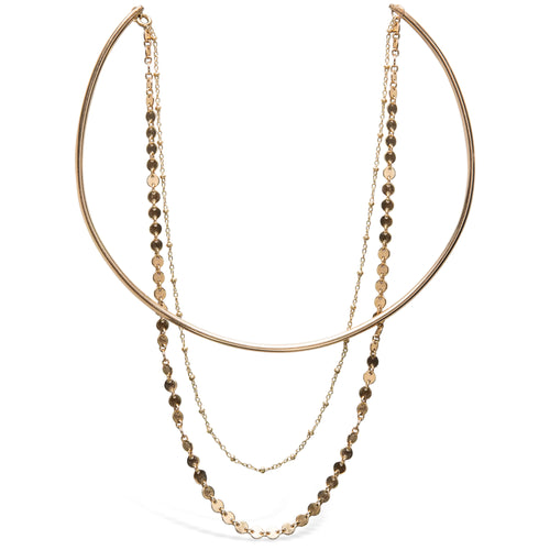 Double Disco Chain Choker, Gold