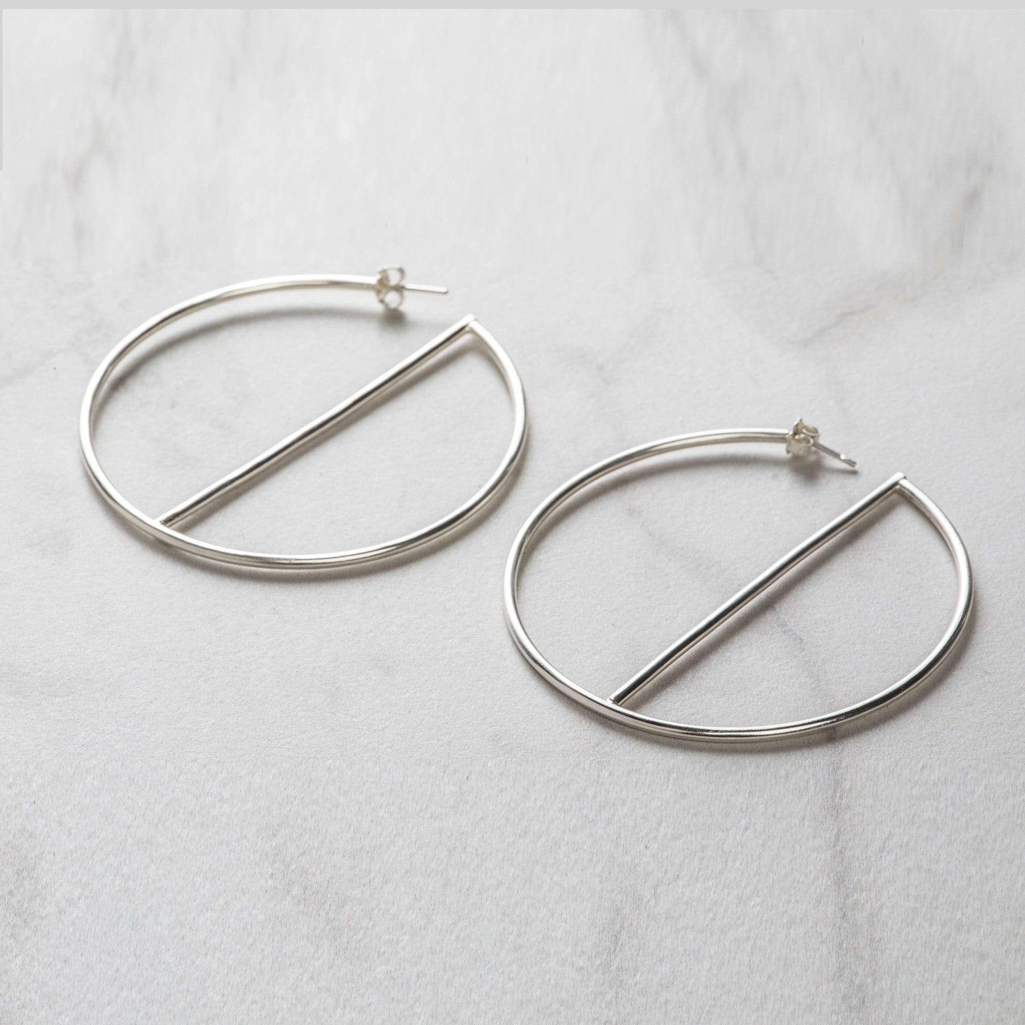 Glam Hoop Earrings, Gold or Silver